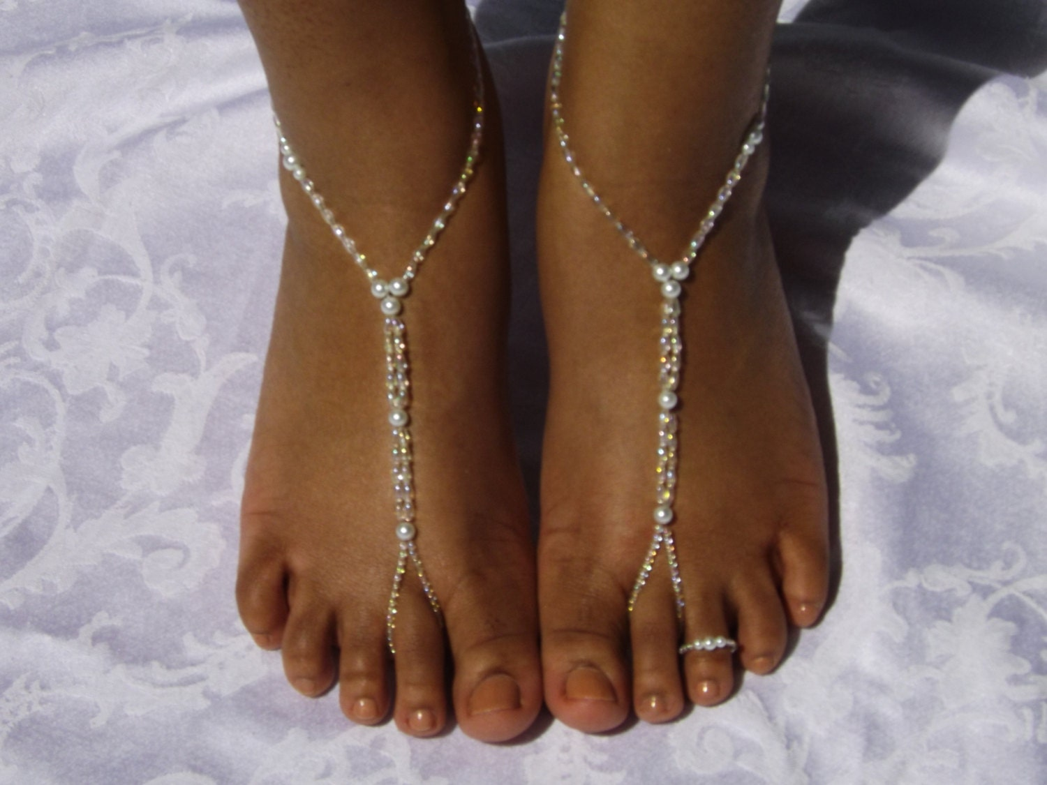 wedding barefoot sandals foot jewelry by