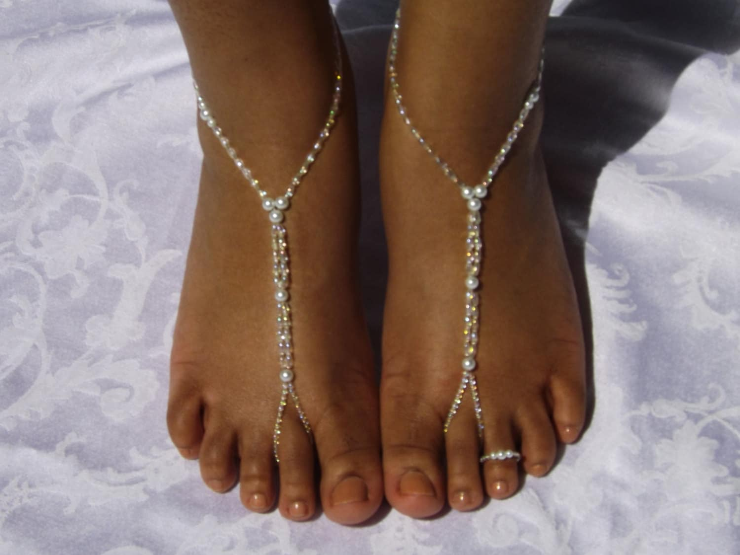 Beach Wedding Barefoot Sandals Foot Jewelry By
