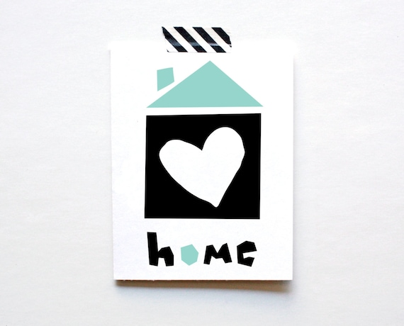 New Home Card, Housewarming, Homesick, Moving Card, Missing You