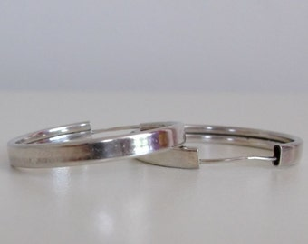 Vintage Sterling Silver Hoop Earrings, Free Shipping with another item