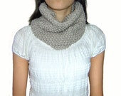 Sale 20% OFF - Hand Knitted Cowl in Light Brown - Ready to Ship