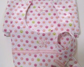Baby Girl Bib, Baby Pacifier Clip, Baby Burp Cloth, Pink Floral Burp Cloth, Baby Bib Pink, Flannel Bib for Girls.