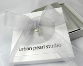 Especially for Phyllis : Dark Gray Swarovski Pearl Necklace Freshwater Stud Earrings