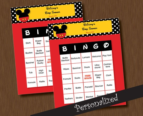 ... 100 Baby Shower BINGO Games - Unique Printable Personalized Cards DIY