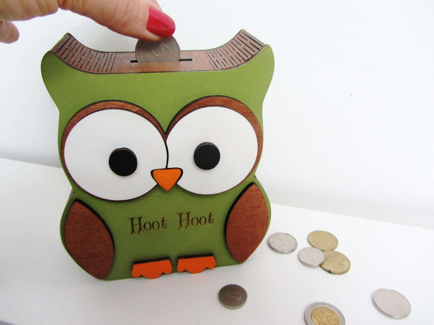 owl money box coin bank piggy bank by houseoftinytreasures. Black Bedroom Furniture Sets. Home Design Ideas