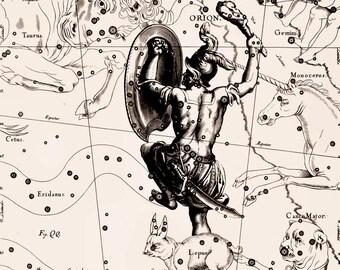 Star map, Zodiac print, Constellation print, 115