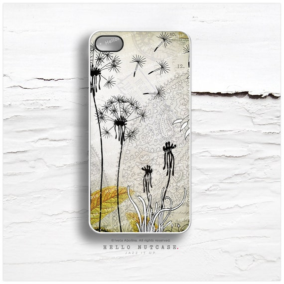 "iPhone 6 Case, iPhone 5C Case Floral, TOUGH iPhone 5s Case Dandelions, iPhone 6 Case, ""Little Dandelions"" by Iveta Abolina iPhone Case I20"