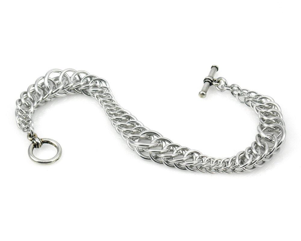Ripple Chain Mail Bracelet