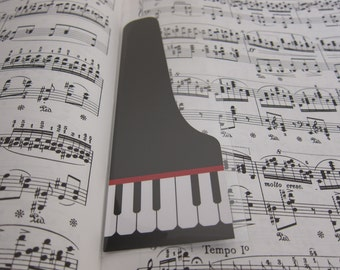 Grand Piano Bookmark with Protective Bookmark Sleeve J1075