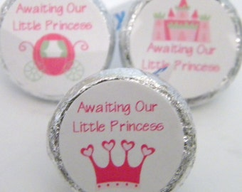 Baby Shower Favors - Princess Birthday Hershey Kiss Stickers - Princess Baby Shower Hershey Kiss Stickers - Princess Kisses Favors
