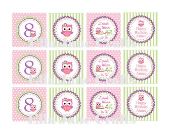 Owl Birthday Printable Party and Favor Tags