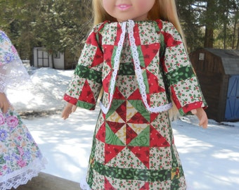 Pretty little peasant dress with quilted cotton pattern.