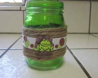Upcycled clean glass jar