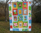 Reduced  The Lorax - Dr Seuss Twin Quilt  Ready to ship