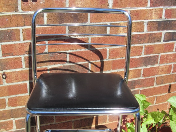 Vintage Cosco Folding Kitchen Step Stool Chair By