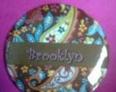 """Reserved for Sonya: 11/2"""" Pin back button with no safety pin attached"""