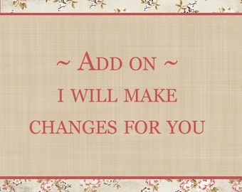 I will make changes for you