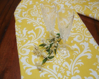 TABLE RUNNER Yellow Wedding top 13 x 96  Table Runners baby shower Party Yellow Table Cloth