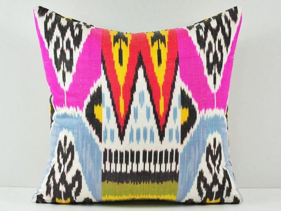 15x15 pink Ikat pillow decorative pillow covers throw by islimi