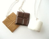 Smores Best Friend Set of Three Polymer Necklaces
