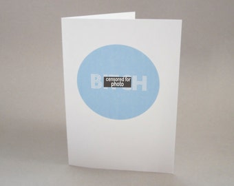 """Funny Card for Friend - """"B"""""""