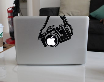 Nikon Camera Funny Decal Sticker for Apple MacBook
