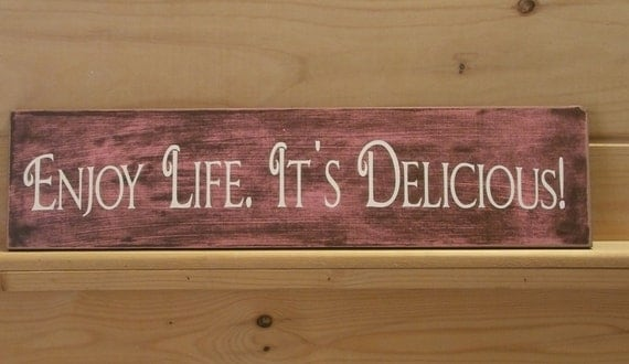 Wood painted sign