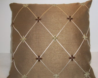Handmade Decorative Pillow Cover, Home Decor,Throw Pillow, Tan, Christopher Lowell Fabric
