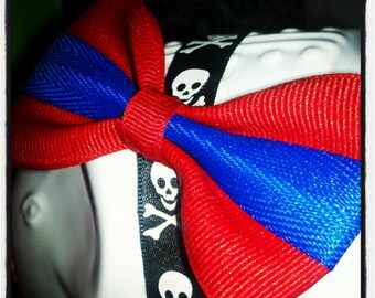 Bright Red Base with Royal Blue Center Stripe