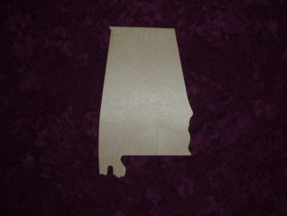 alabama state wood cut out unfinished wood craft alabama. Black Bedroom Furniture Sets. Home Design Ideas