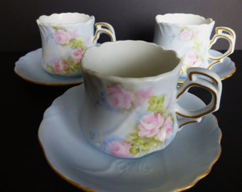 Hand painted Tea Set by Hutschenreuther Sylvia pattern