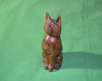 ON SALE!    Wooden Carved Cat