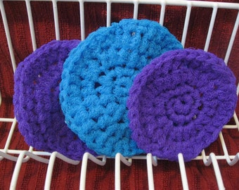 Dish Scrubbies. SET OF 3. Crochet Nylon Dish Scrubber. Great housewarming or wedding shower gift.