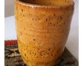 Honey Brown yellow stoneware Tumbler