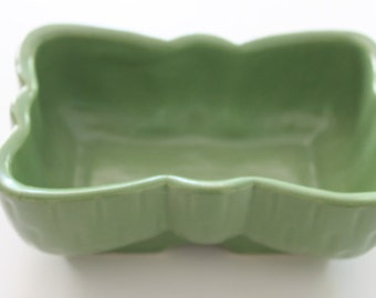 Vintage Green Matte Pottery Planter Vase Upco Made in USA