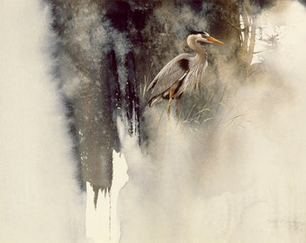 Great Blue Heron by Morten E Solberg