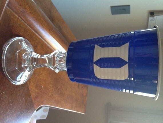 Duke University Blue Devil Solo Cup Wine Glass
