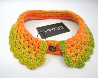 Exclusive crochet collar - color of summer