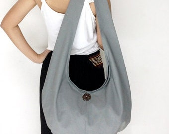 Handbags Canvas Bag Shoulder bag Sling bag Hobo bag Boho  bag Messenger bag Tote bag Crossbody Purse  Gray