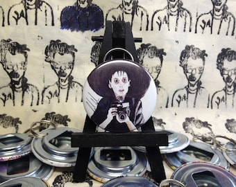 Beetlejuice Lydia Deetz original art Bottle Opener