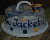 Georgia Tech Go Jackets Cake Carrier