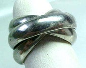 Sterling Silver 3 Rolling Bands Ring - 4mm each
