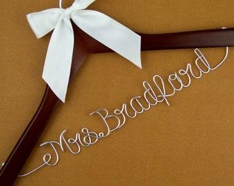 Flash sale, Single Line Bride Name Personalized Wedding Hanger, Personalized Custom Bridal Hanger, Brides Hanger, Bridal Gift #6