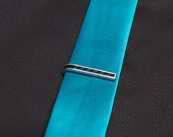 Carbon Fiber Stripe Skinny Tie Clip