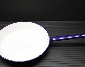 Vintage Enamelware White Pan