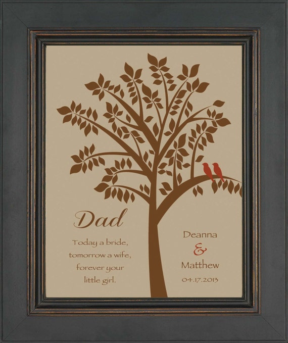 Wedding Gift To Dad From Daughter : DAD from Bride- Thank you gift for DAD on Wedding Day from Daughter ...