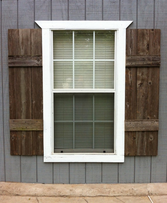 Items Similar To Shutters Pair Interior Or Exterior Custom Made From Reclaimed Wood Ready To