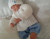 Baby/Reborn 4 piece Matinee Set knitting pattern DK 0-3 month (Jack Horner)
