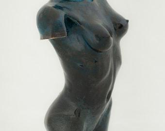 Bronze lost wax female torso model
