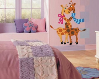 Wall Sticker Giraffes in Love (200f)